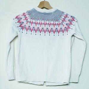 Gymboree Shirts & Tops - Gymboree Girls Fair isle cardigan sweater L 10-12